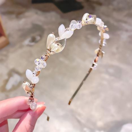 Koreanisches Perlen-Strass-Stirnband NHNA322367's discount tags