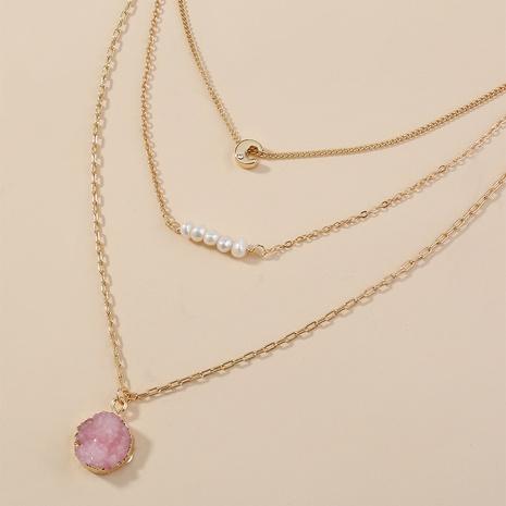 kreative Perle Naturstein mehrschichtige Anhänger Halskette NHAN321673's discount tags