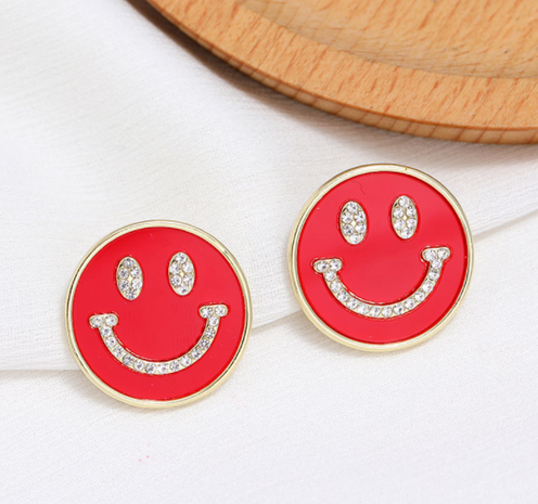 Korean Fashion Sweet Smiley Stud Earrings NHSC322119's discount tags