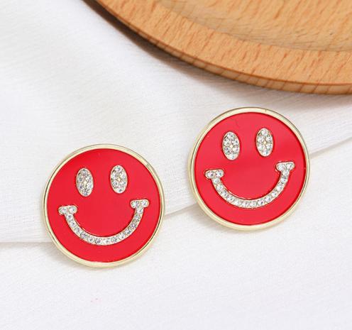 Boucles d'oreilles à la mode coréenne Sweet Smiley NHSC322119's discount tags