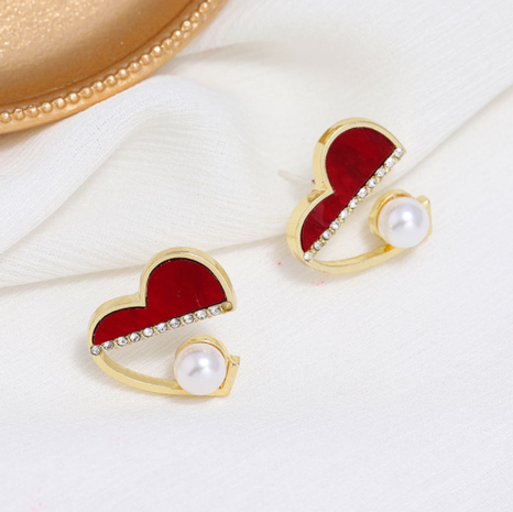 Korean fashion sweet love earrings NHSC322117's discount tags