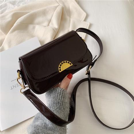 bolso de mensajero brillante de charol de moda NHJZ320223's discount tags
