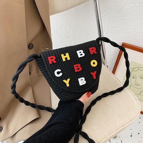 Bolso de hombro con letras coreanas NHJZ320230's discount tags
