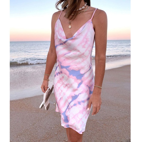 new fashion printed tie-dye suspender dress NHJG322538's discount tags