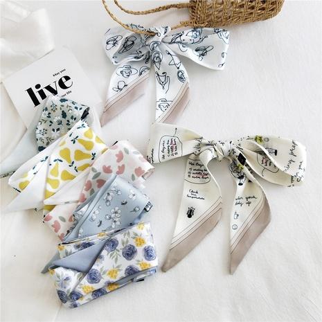 bufanda de seda pequeña de seda fina y estrecha de moda NHMN322641's discount tags