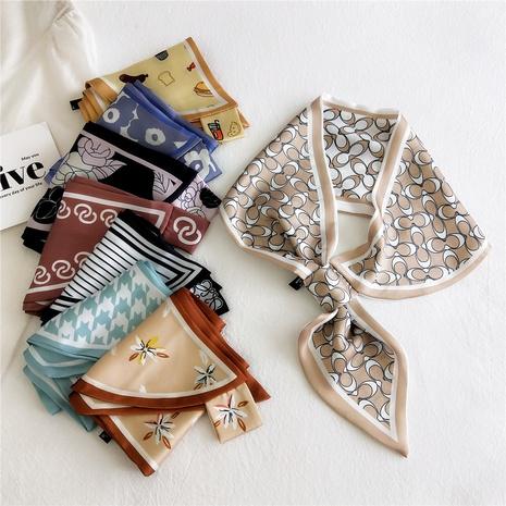 bufanda de seda pequeña de impresión de moda NHMN322643's discount tags