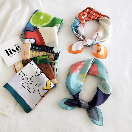 Bufanda de seda cuadrada de moda de Corea NHMN322649's discount tags
