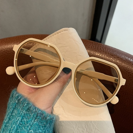 Korean fashion retro brown sunglasses NHKD322656's discount tags