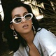 fashion retro oval sunglasses  NHKD322657