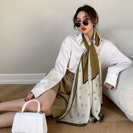 Bufanda de seda de impresión de moda larga de sección delgada coreana NHCM322673's discount tags