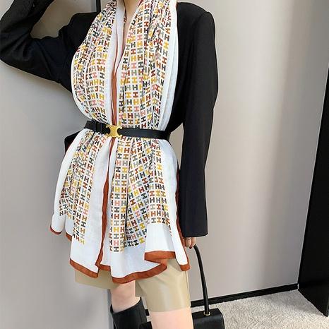 Bufanda de seda de protección solar de algodón y lino de moda coreana NHCM322674's discount tags