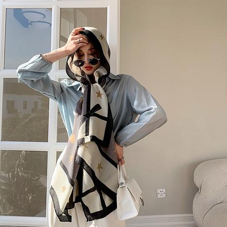 Bufanda de seda de la protección solar del mantón de la sensación del algodón y del lino de la moda coreana NHCM322677's discount tags