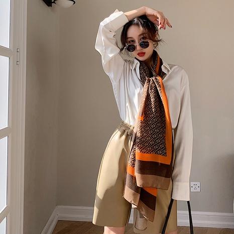 Bufanda de seda de protección solar de algodón y lino de moda coreana NHCM322679's discount tags