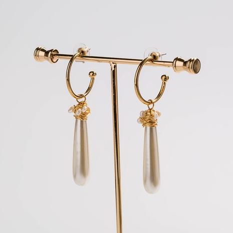 fashion C-shaped pearl earrings  NHAN322691's discount tags