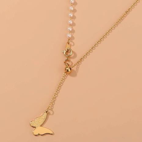 collier fin de perles de papillon de mode NHAN322695's discount tags
