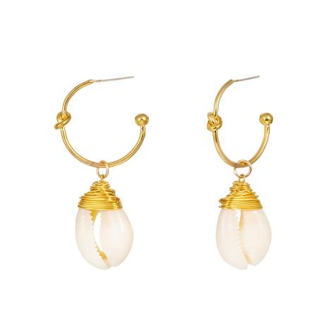 fashion C-shaped pearl earrings NHAN322700's discount tags