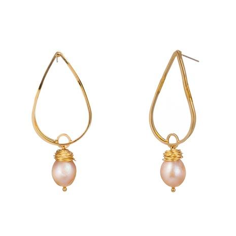 Boucles d'oreilles simples coréennes NHAN322705's discount tags