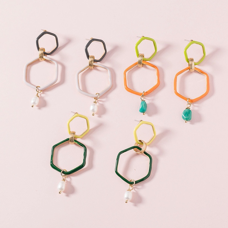 fashion color paint alloy earrings  NHAN322712