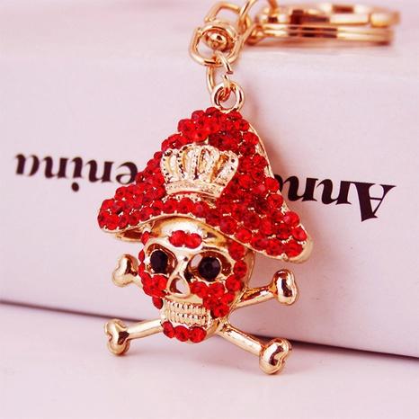 Llavero de calavera pirata de diamante creativo NHAK322725's discount tags