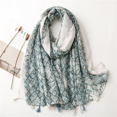thin  sunscreen shawl blue silk scarf NHGD322775's discount tags