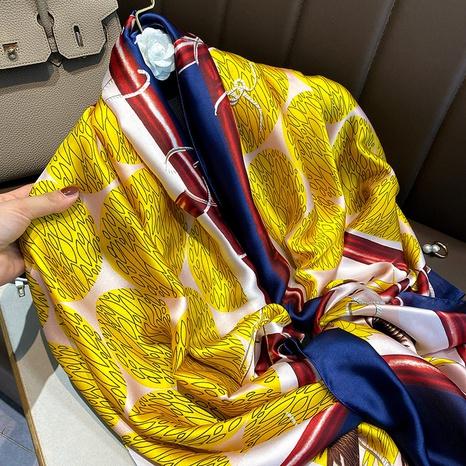 bufanda de seda artificial de impresión de moda NHCJ322779's discount tags