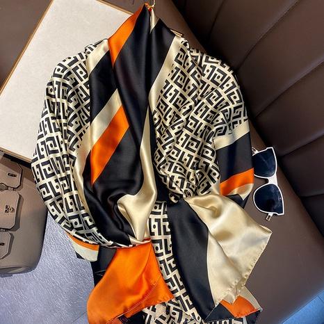 Pañuelo de seda de simulación de sección delgada coreana NHCJ322783's discount tags