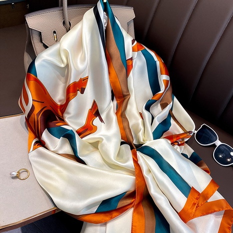 Korean imitation silk scarf wholesale NHCJ322784's discount tags