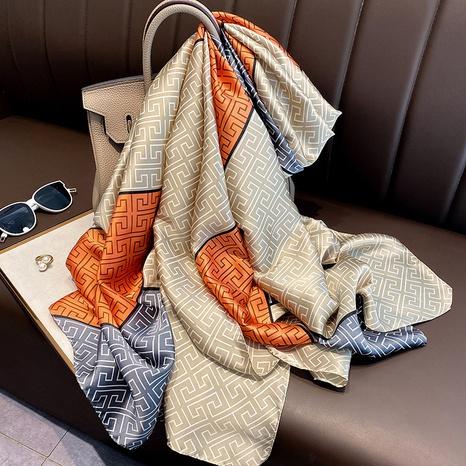 Mantón coreano de seda de imitación de sección delgada NHCJ322785's discount tags