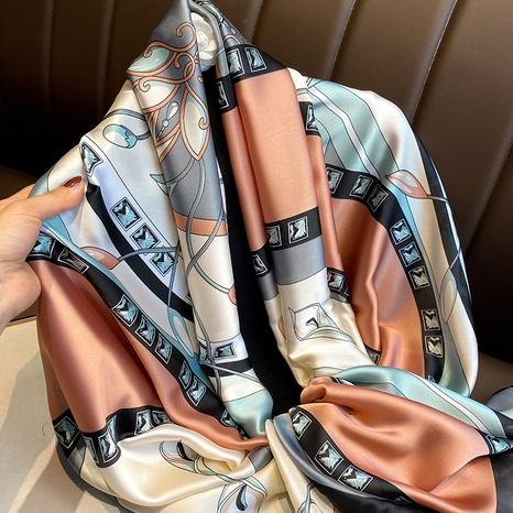 bufanda de seda de simulación de flores de moda NHCJ322790's discount tags