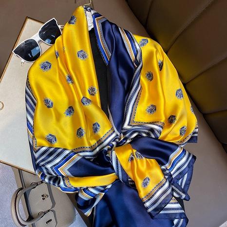bufanda de seda de impresión simple de moda NHCJ322800's discount tags