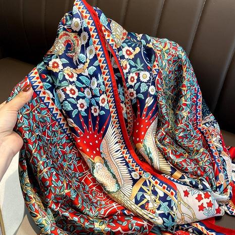 Bufanda de seda con estampado de flores de moda coreana NHCJ322809's discount tags