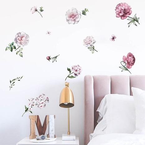 new fashion peony flower wall sticker NHAF322823's discount tags