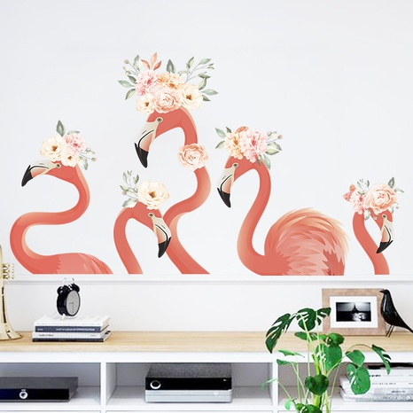 new red art flamingo wall sticker  NHAF322826's discount tags