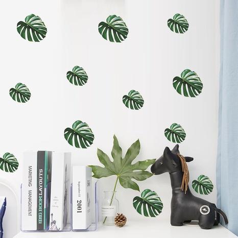 new fashion tropical green plant leaf wall sticker NHAF322828's discount tags