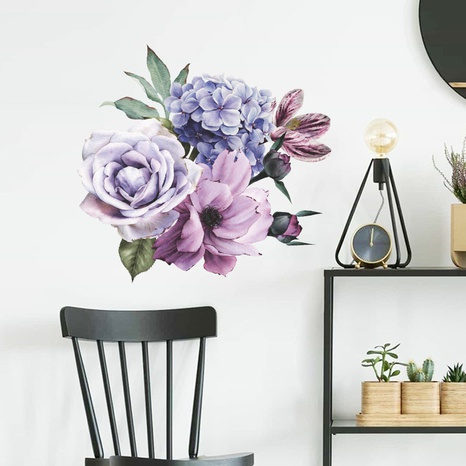 new fashion big peony flower wall sticker NHAF322829's discount tags