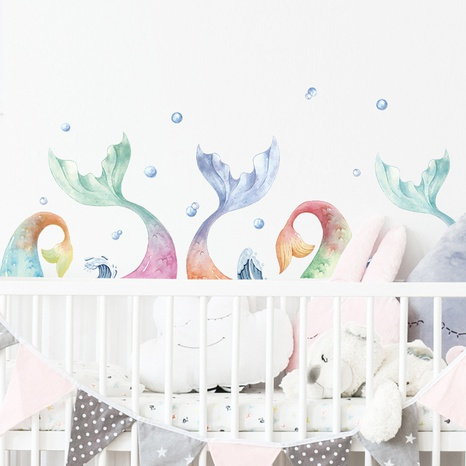 new fashion gradient fishtail wall stickers NHAF322831's discount tags