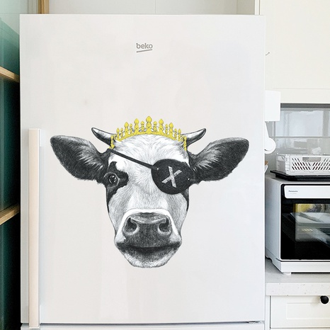 one-eyed with crown pirate cow porch wall stickers NHAF322840's discount tags