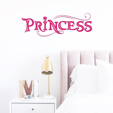 new fashion letter princess wall stickers NHAF322841's discount tags