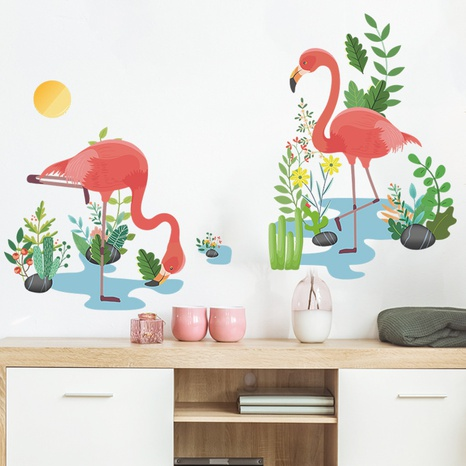 new fashion simple flamingo wall stickers NHAF322843's discount tags