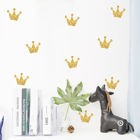 golden little crown children bedroom porch wall stickers NHAF322847's discount tags