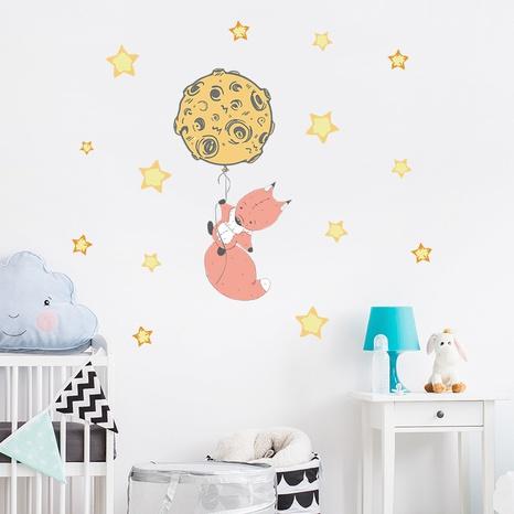 cartoon fox universe balloon stars wall stickers NHAF322850's discount tags