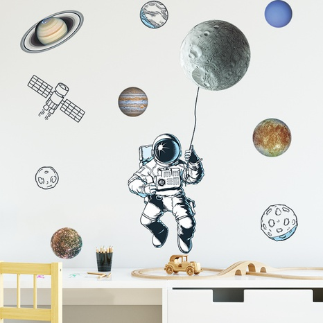 new simple universe planet astronaut wall stickers NHAF322854's discount tags
