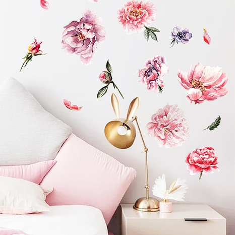 new fashion painting peony flower wall sticker NHAF322856's discount tags
