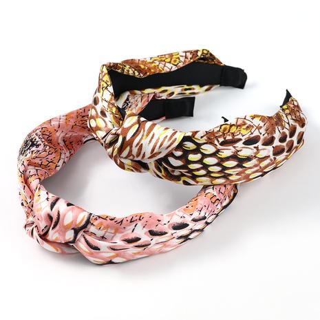 Haarstirnbänder mit Schlangenhautmuster NHJE322862's discount tags