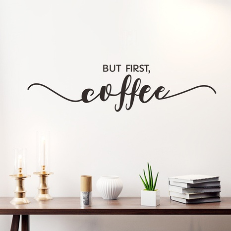 creative black white English slogan early morning wall stickers NHAF322913's discount tags
