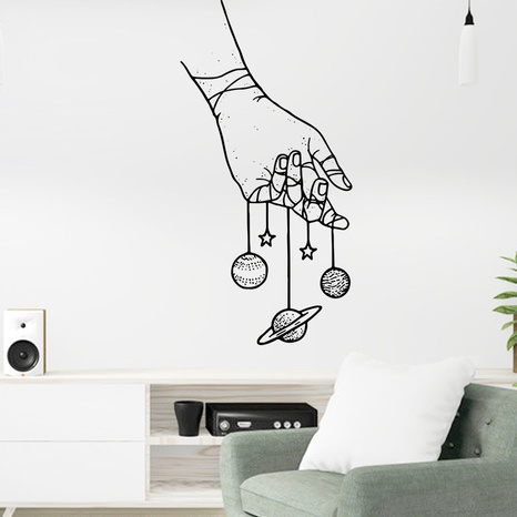 new creative black white wall stickers NHAF322915's discount tags