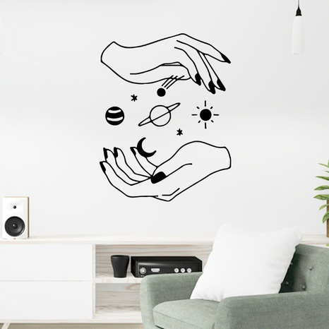 new creative black white wall stickers NHAF322918's discount tags