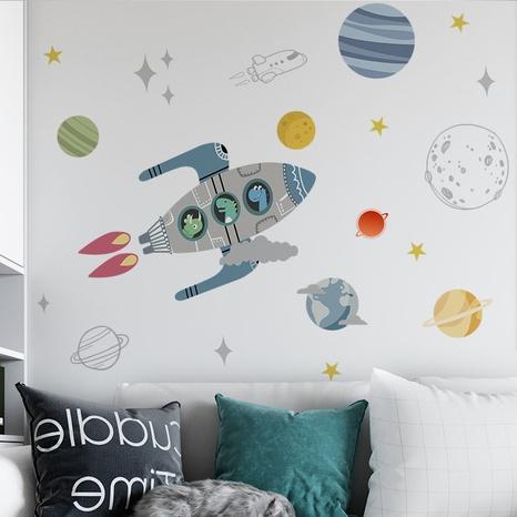 new cartoon rocket universe planet wall sticker NHAF322919's discount tags