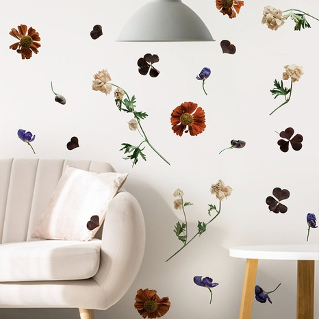 new fashion dried flower creative wall sticker NHAF322921's discount tags