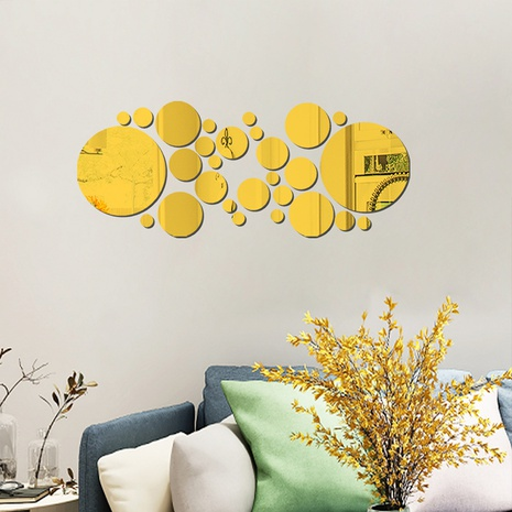 new geometric size circle acrylic mirror wall stickers NHAF322926's discount tags